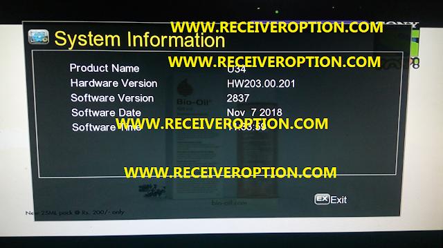 GX6605S HARDWARE VERSION HW203.00.201 POWERVU KEY NEW SOFTWARE