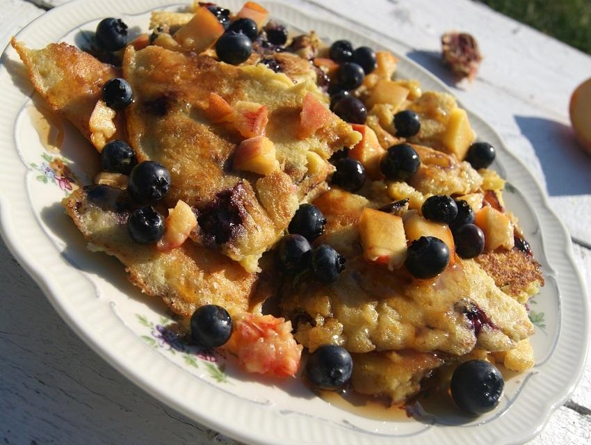 omlet bezglutenowy na słodko