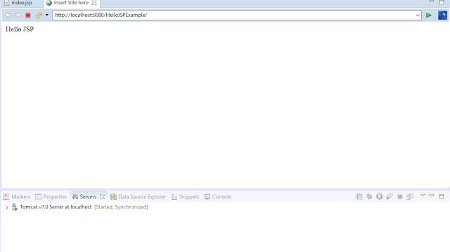 Create First JSP Program using Eclipse IDE and Tomcat Server