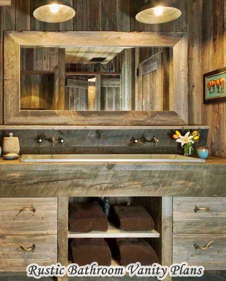 Elegance Rustic Bathroom Vanity Plans