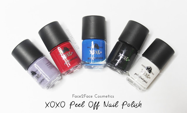 Face2Face Cosmetics XOXO Peel Off Nail Polish Review by Jessica Alicia