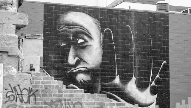 2 Weeks in New Zealand Itinerary for 2nd time visitors: Christchurch Street art in black and white