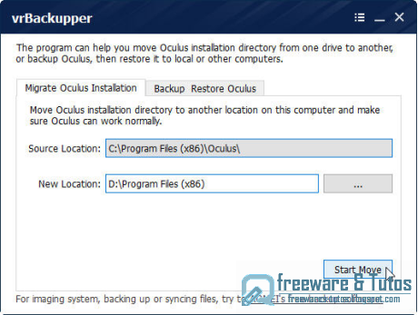vrBackupper : un logiciel de sauvegarde et de migration pour l'Oculus Rift