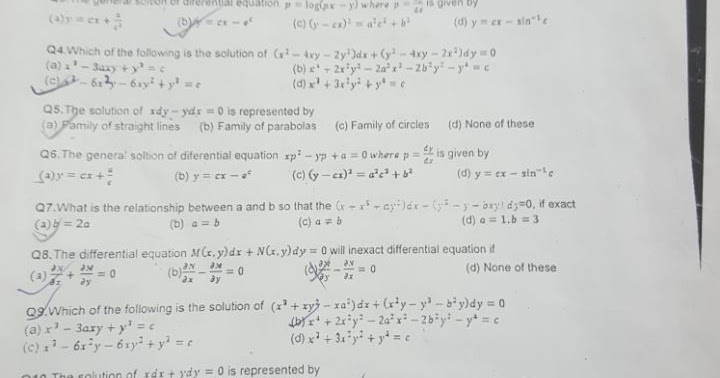 MTH166 : Differential Equations And Vector Calculus End