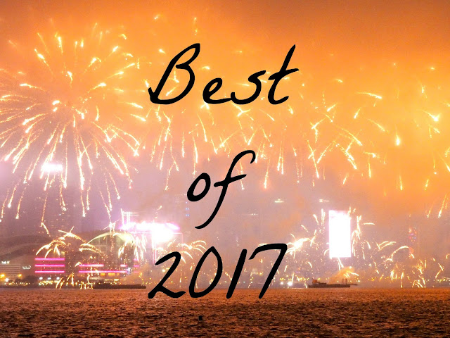 'Best of 2017' text on fireworks background