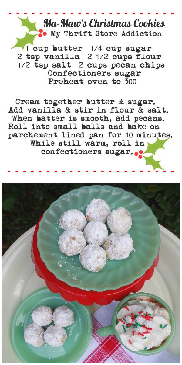 Christmas cookie recipe