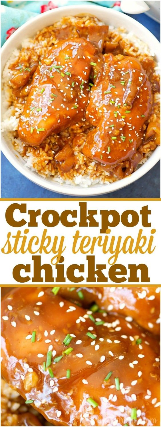 Crockpot Sticky Teriyaki Chicken