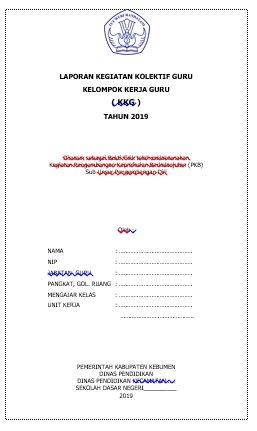 Contoh Laporan KKG Materi Pengkajian Program Tahunan (PROTA) Kelas 4 SD MI (Lampiran Berkas Pengajuan DUPAK Tahunan)