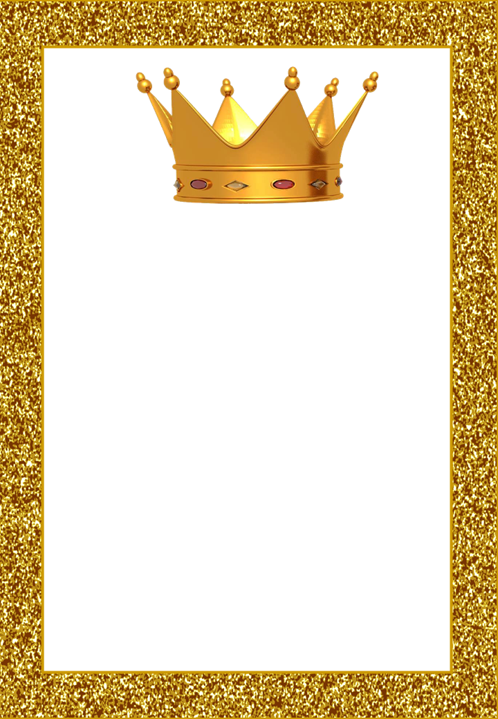 crowns free printable frames  invitations or cards