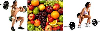 Frutas pesas entrenamiento hambre rendimiento