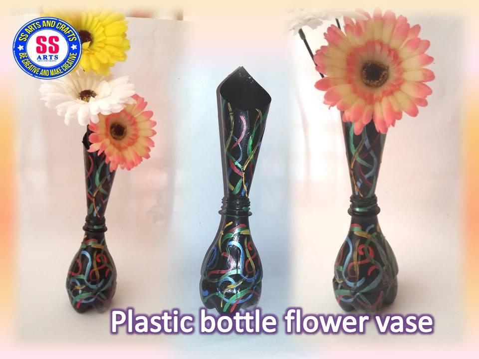 Plastic Bottle Designer Flower Vase Ssartscrafts