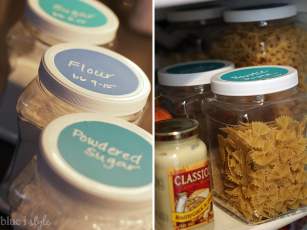 Pantry organization in clear containers