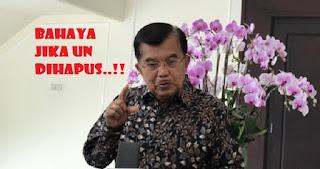 Wapres JK: Jika UN Dihapus Berbahaya Bagi Pendidikan Indonesia, Ini Alasannya