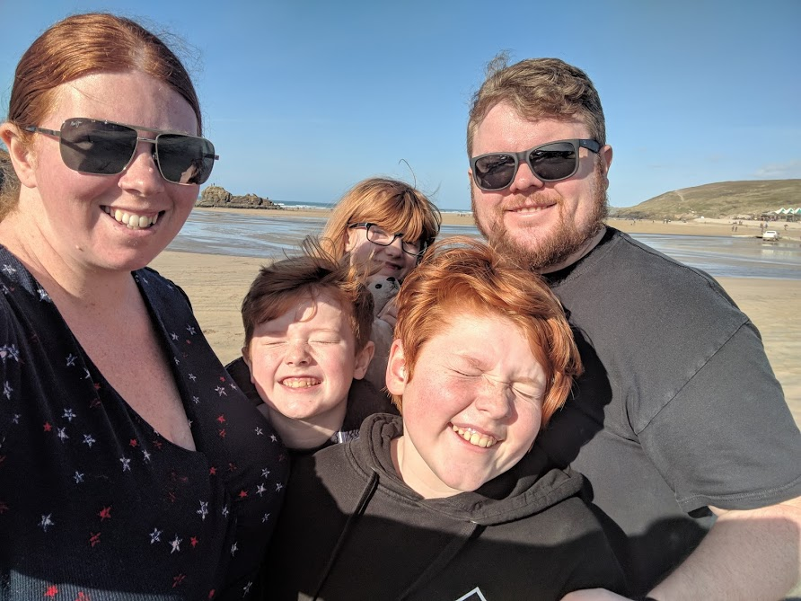 A Postcard from Perranporth Beach, Cornwall  - beach selfie