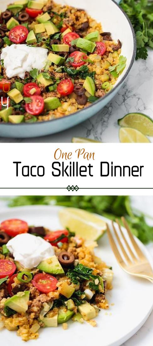 One Pan Taco Skillet Dinner