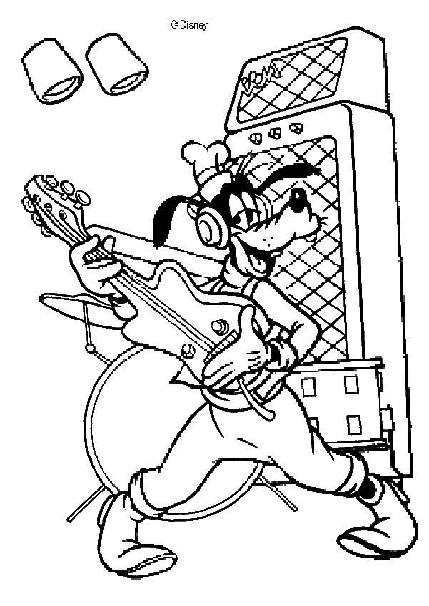 Kleurplaat Garfield Kerst Desenhos Do Guitar Hero Para Colorir