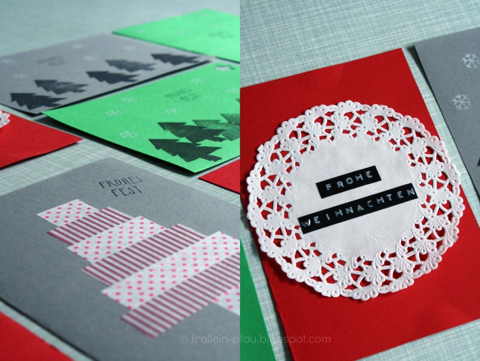 Weihnachtskarten Selber Machen, DIY, Basteln, Weihnachtspost, Karten, Post,  Weihnachten,