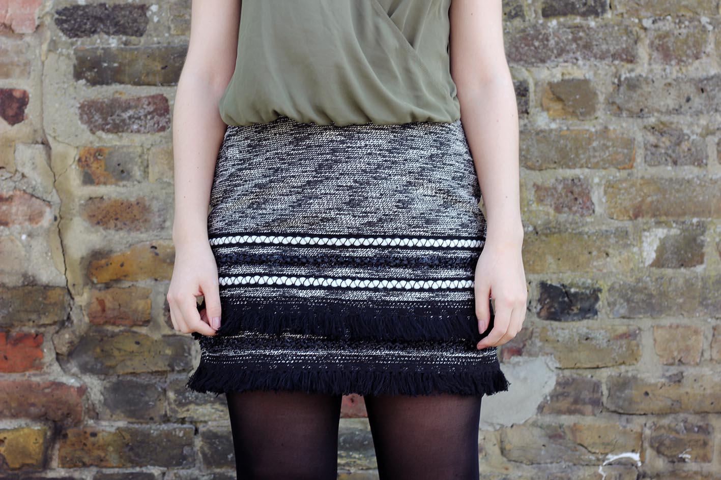 h&m skirts bloggers