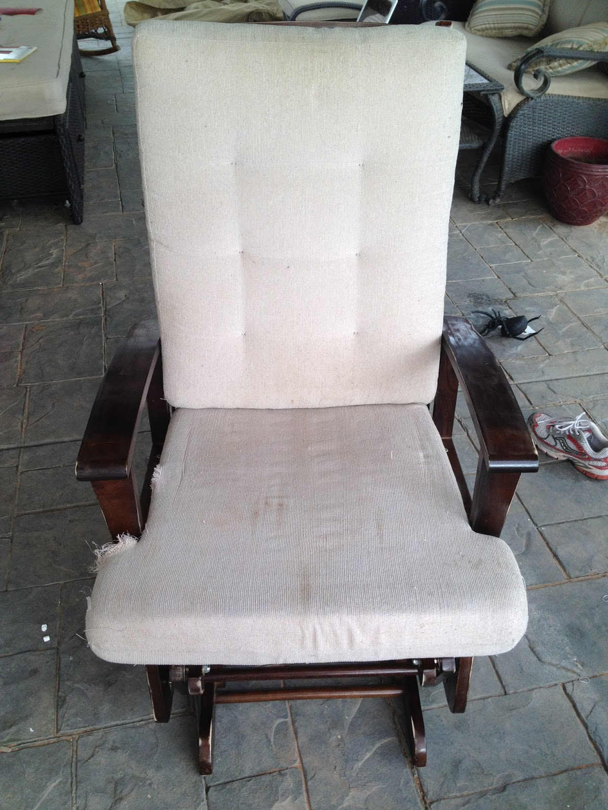 aunt priscilla has a rocking chair desk school garage sales r us hank 39s nursery