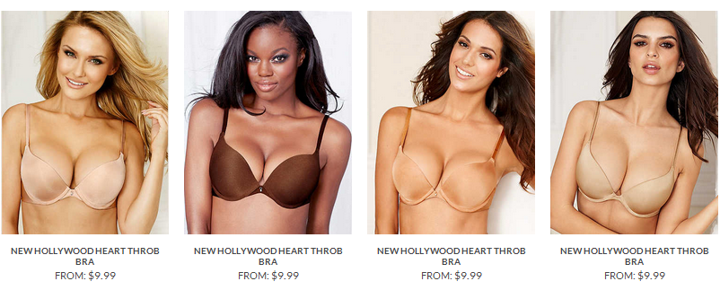 9da317a1e2d ... Hollywood Heart Throb bra that, for some reason, also gets its own  category page, also showing just nine different links for the same product  page, ...