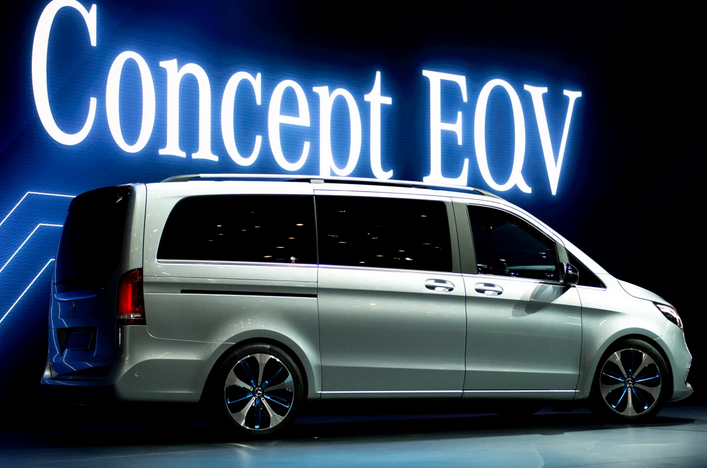Mercedes-Benz uncovered Tuesday the Concept EQV,