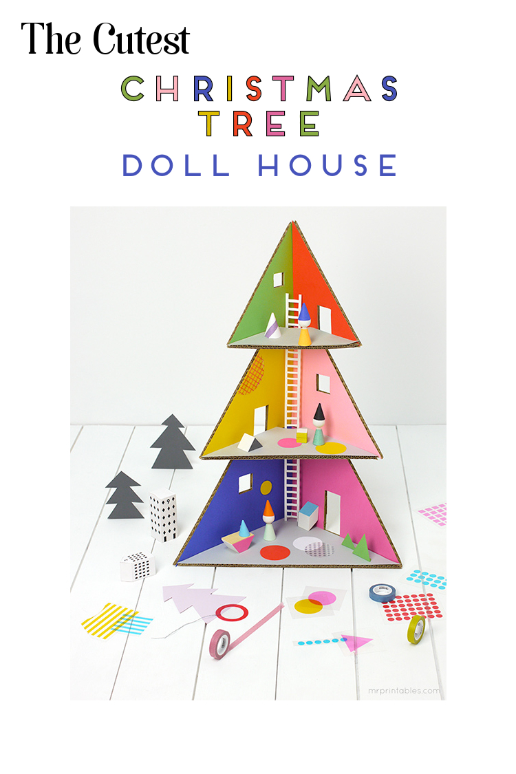 THE CUTEST CHRISTMAS TREE DOLL HOUSE.