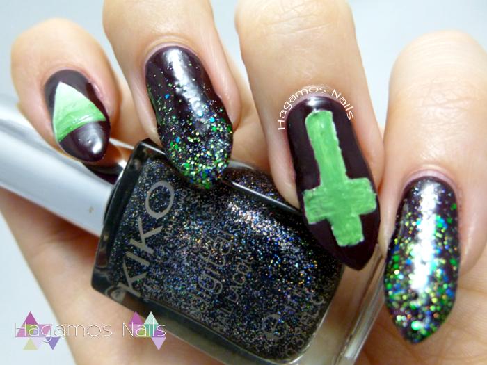 Nail art Bruja Hispter. Halloween. Hagamos Nails