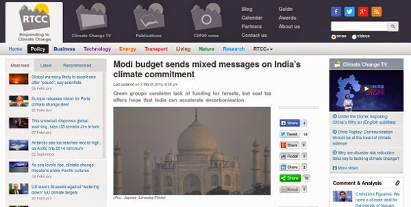 http://www.rtcc.org/2015/03/03/modi-budget-sends-mixed-messages-on-indias-climate-commitment/