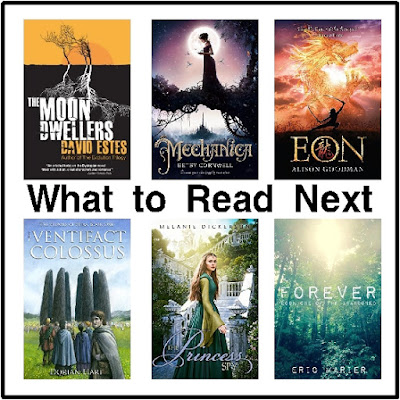 Wondering What to read next?  Here are 6 new books added to my To Be Read list.  They all look so good that I had to share with you if you need a good book.  There's a little bit of romance, fantasy, paranormal, dystopian, and fairy tale fun.