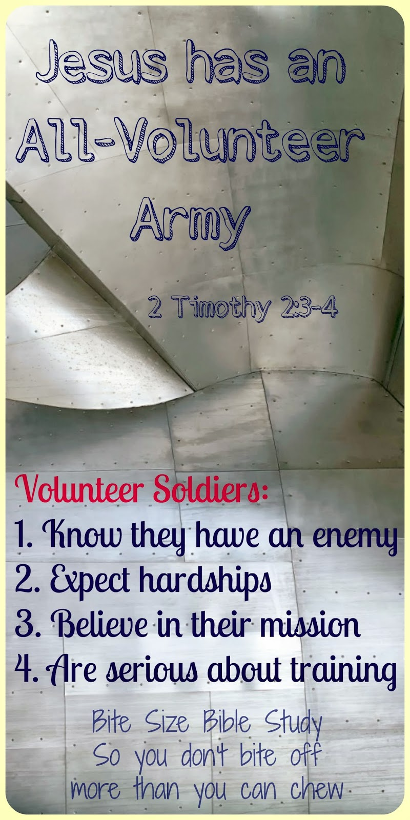 2 Timothy 2:3-4, soldiers for Christ, dedicated soldiers of the cross