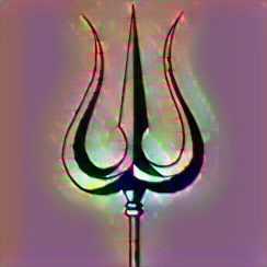 Hriday-rekha-par-trikon-trident