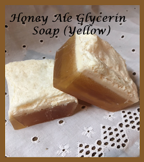 Honey Ale Glycerin Soap (Yellow)