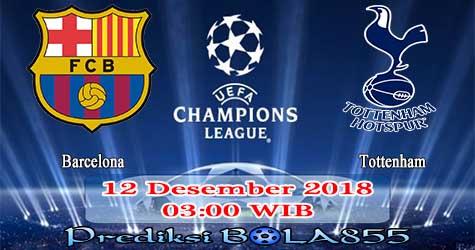 Prediksi Bola855 Barcelona vs Tottenham 12 Desember 2018