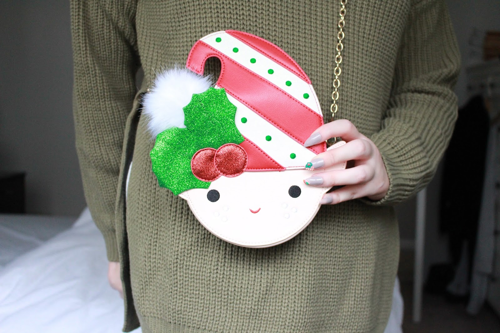 Skinny-dip Christmas Elf Clutch, Best Christmas Clutches, ASOS BAGS,