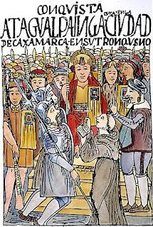 Atahualpa y su encuentro con Pizarro en Cajamarca