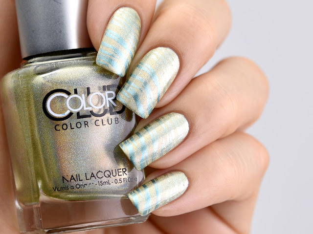 Color Club: Kismet / Moyou London: Back To The 80's -04, スタンピングネイル