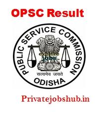 OPSC Result