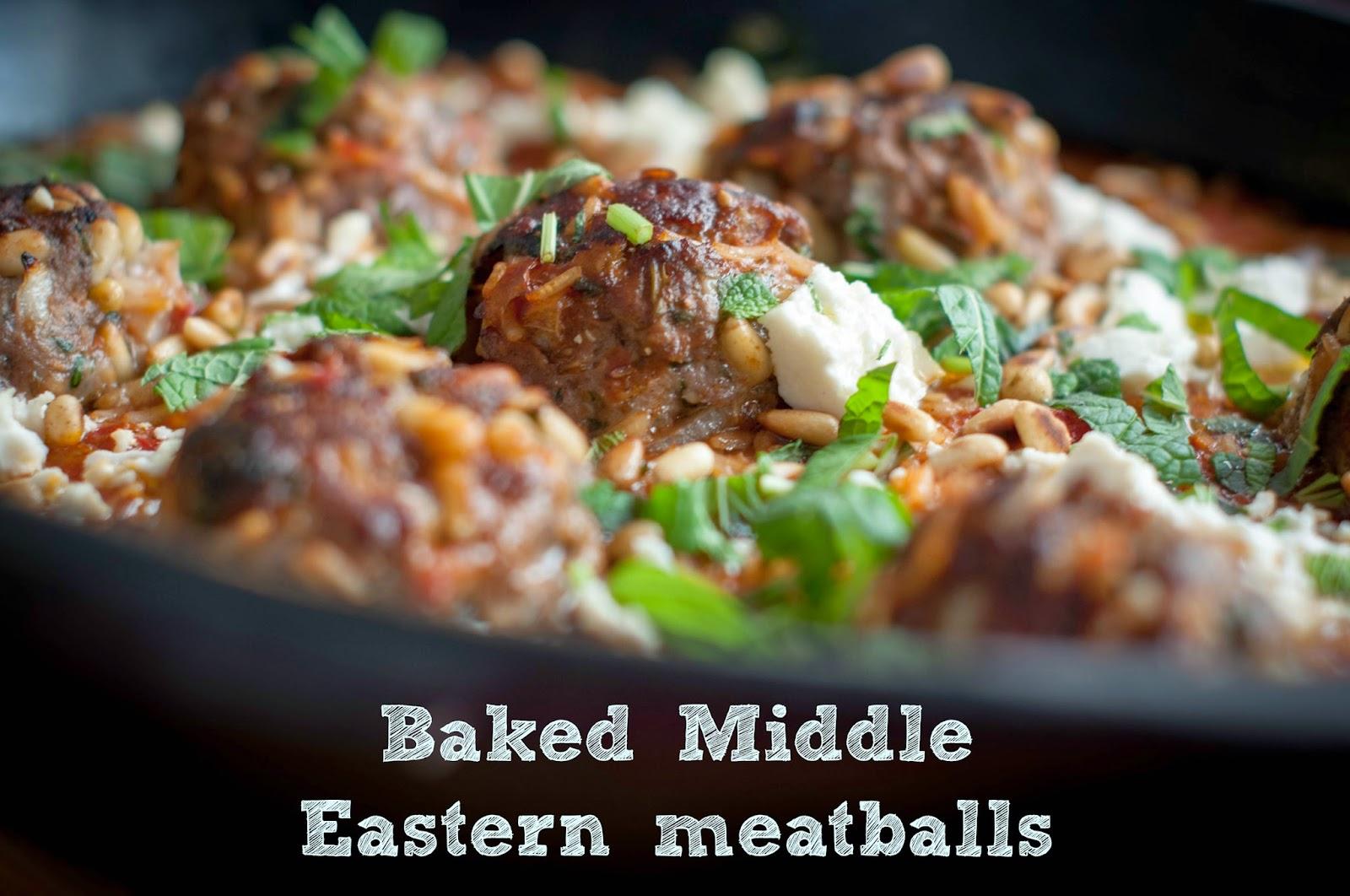 Gourmetgirlfriend Baked Middle Eastern Meatballs