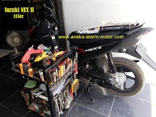 Cara pasang alarm motor Suzuki NEX II