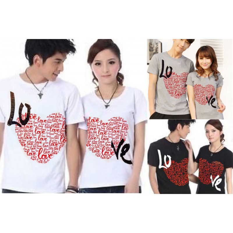 Jual Online Love Full Couple Murah Jakarta Bahan Combed Terbaru