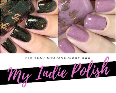 my indie polish 7th year shopaversary duo swatches