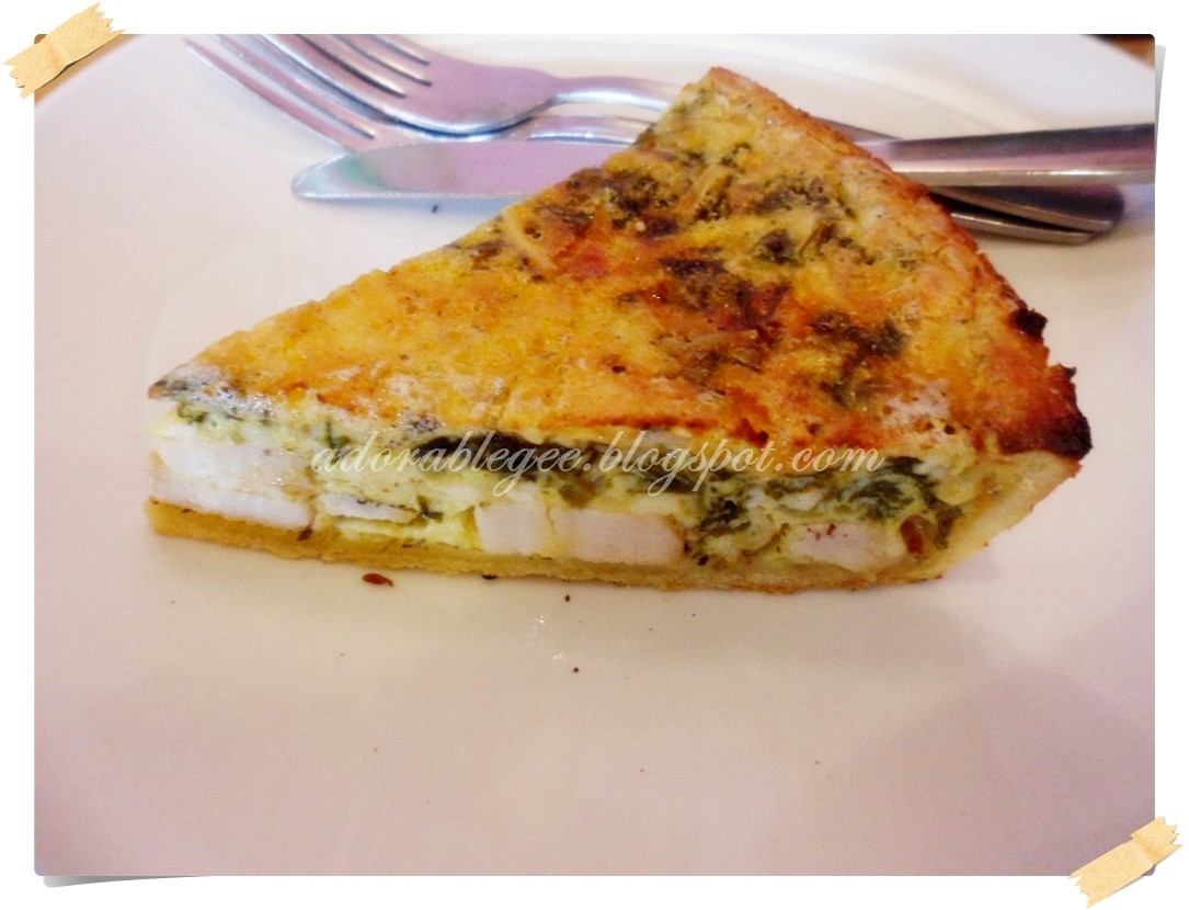 Adorablegee Flew Away To France Chicken Spinach Quiche By Starbucks