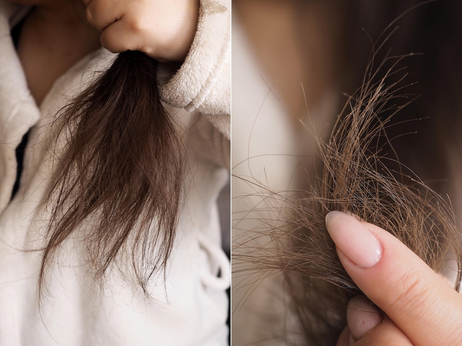 siano na włosach