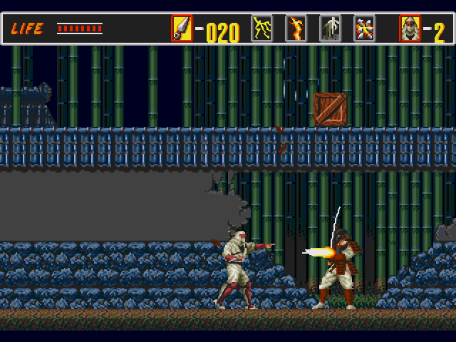 Fase 1 do game The Revenge of Shinobi