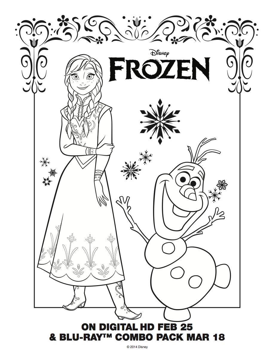 Frozen: Imágenes de Ana para Colorear, para Imprimir