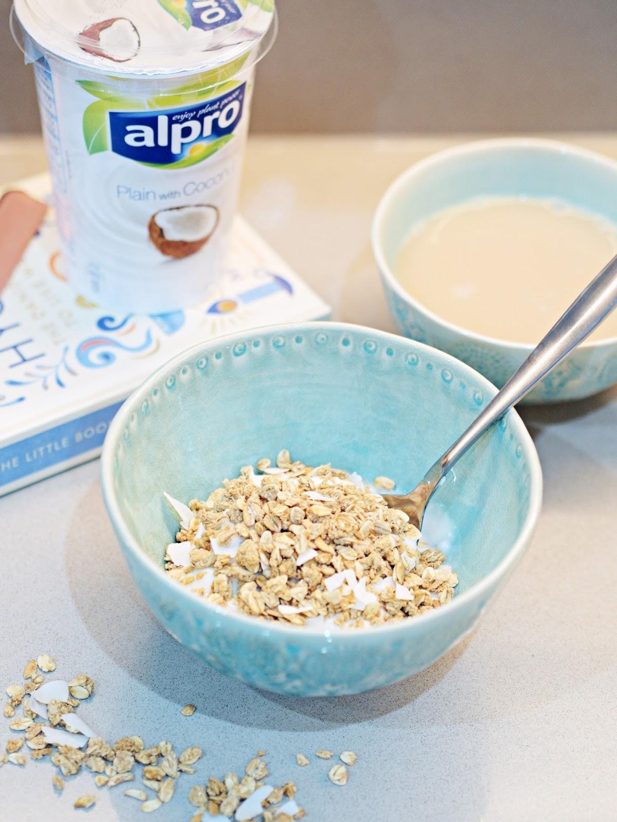 alpro and rude health granola