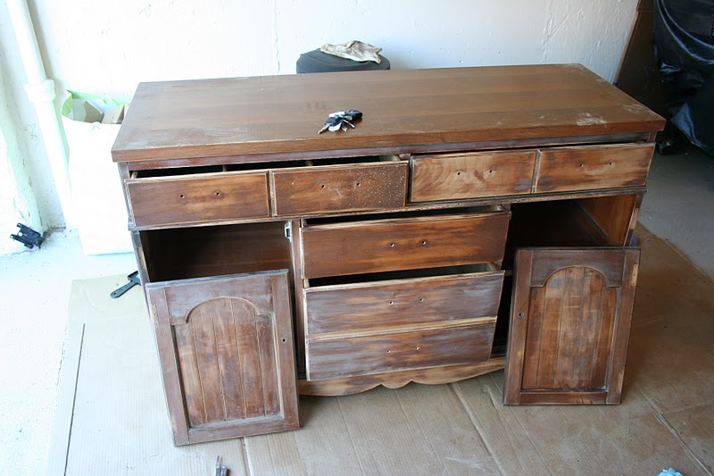 Colorful Dresser To Kitchen Island Upcylce