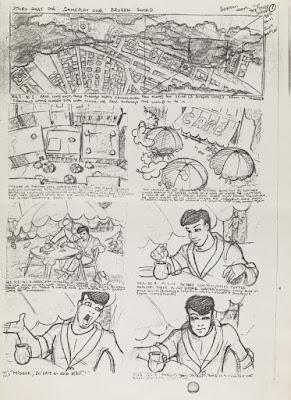 El boceto de la introducción de Broken Sword