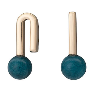 Zuri Mixed Shape Bar & Bead Stud Earrings - Oliver Bonas - Jewellery Blog - Jewellery Curated