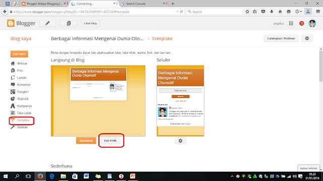 Cara membuat blog baru Dari google (Blogspot)